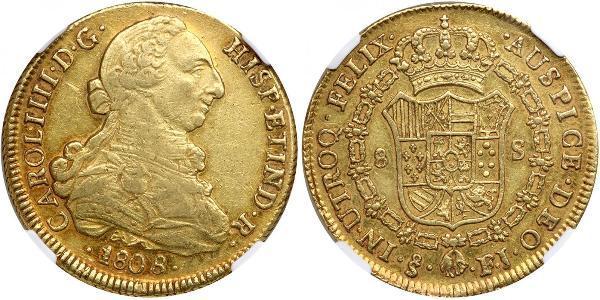 8 Escudo Chile Gold Karl IV (1748-1819)