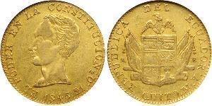 8 Escudo Ecuador Gold Simon Bolivar (1783 - 1830)