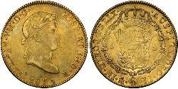 8 Escudo First Mexican Empire (1821 - 1823) Gold Ferdinand VII of Spain (1784-1833)