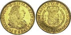 8 Escudo Peru Gold Ferdinand VI of Spain (1713-1759)