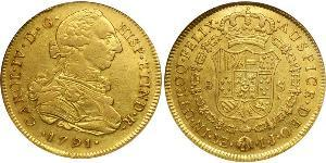 8 Escudo Peru Gold Charles IV of Spain (1748-1819)
