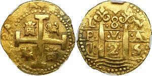 8 Escudo Peru Gold Philip V von Spanien (1683-1746)