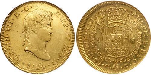 8 Escudo Peru Gold Ferdinand VII of Spain (1784-1833)