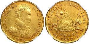 8 Escudo Plurinational State of Bolivia (1825 - ) Gold Simon Bolivar (1783 - 1830)
