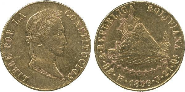 8 Escudo Plurinational State of Bolivia (1825 - ) Gold