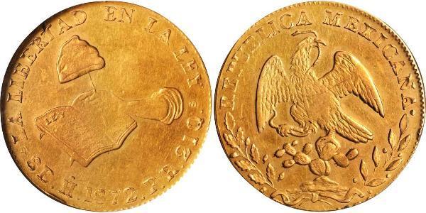 8 Escudo Second Federal Republic of Mexico (1846 - 1863) Gold