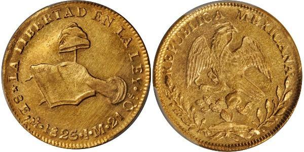 8 Escudo Second Federal Republic of Mexico (1846 - 1863) Gold