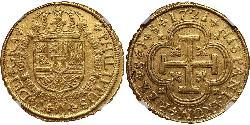 8 Escudo Spain Gold Philip V of Spain(1683-1746)
