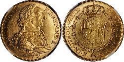 8 Escudo Spanisches Kolonialreich (1700 - 1808) Gold Karl III. von Spanien (1716 -1788)