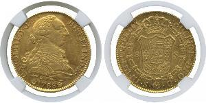 8 Escudo Spanish Empire (1700 - 1808) Gold Charles III of Spain (1716 -1788)