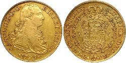 8 Escudo Spanish Mexico  / Kingdom of New Spain (1519 - 1821) Gold Charles IV of Spain (1748-1819)