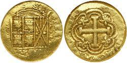 8 Escudo Viceroyalty of New Granada (1717 - 1819) Gold
