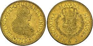 8 Escudo Viceroyalty of New Granada (1717 - 1819) Gold Ferdinand VI of Spain (1713-1759)