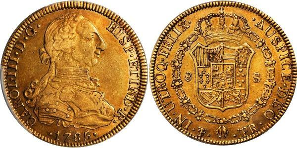 8 Escudo Viceroyalty of the Río de la Plata (1776 - 1814) / Bolivia Gold Charles III of Spain (1716 -1788)
