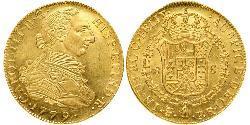 8 Escudo Vizekönigreich des Río de la Plata (1776 - 1814) / Bolivien Gold Karl III. von Spanien (1716 -1788)