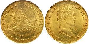 8 Escudo Bolivie (1825 - ) Or