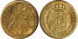8 Escudo Chili Or Charles IV d