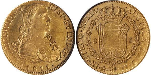 8 Escudo Nouvelle-Espagne (1519 - 1821) Or Ferdinand VII d
