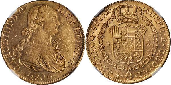 8 Escudo Nouvelle-Espagne (1519 - 1821) Or Charles IV d