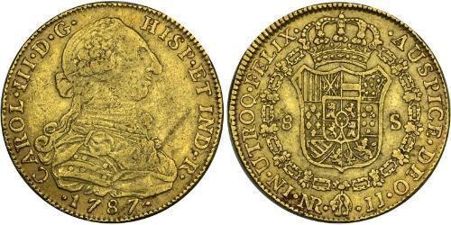 8 Escudo Vice-royauté de Nouvelle-Grenade (1717 - 1819) Or Charles III d