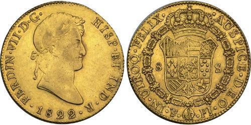 8 Escudo Bolivia / Vicereame del Río de la Plata (1776 - 1814) Oro Ferdinando VII di Spagna (1784-1833)