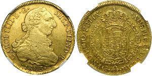 8 Escudo Chile Oro Carlos IV de España (1748-1819)