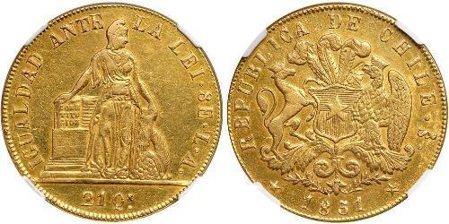 8 Escudo Chile Oro