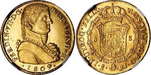 8 Escudo Chile Oro Fernando VII de España (1784-1833)