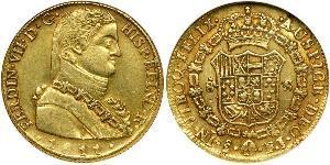 8 Escudo Cile Oro Ferdinando VII di Spagna (1784-1833)
