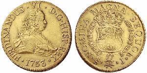 8 Escudo Cile Oro Ferdinando VI di Spagna (1713-1759)