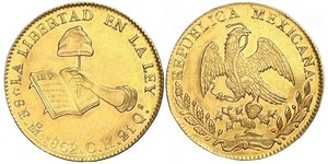8 Escudo Estados Unidos Mexicanos (1846 - 1863) Oro