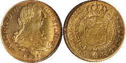 8 Escudo Perù Oro Carlo IV di Spagna (1748-1819)