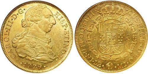 8 Escudo Perù Oro Carlo III di Spagna (1716 -1788)