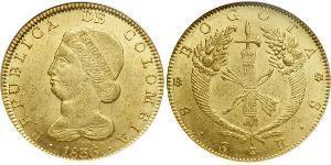 8 Escudo República de la Nueva Granada (1831–1858) Oro