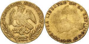 8 Escudo Second Federal Republic of Mexico (1846 - 1863) Oro