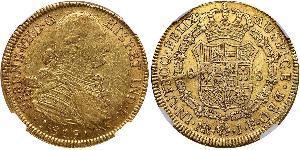 8 Escudo Vicereame della Nuova Granada (1717 - 1819) Oro Ferdinando VII di Spagna (1784-1833)