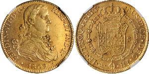 8 Escudo Vicereame della Nuova Spagna (1519 - 1821) Oro Ferdinando VII di Spagna (1784-1833)