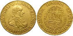 8 Escudo Virreinato de Nueva España (1519 - 1821) Oro Carlos III de España (1716 -1788)
