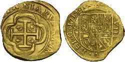 8 Escudo Virreinato de Nueva España (1519 - 1821) Oro