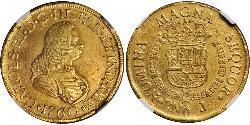 8 Escudo Virreinato de Nueva Granada (1717 - 1819) Oro Carlos III de España (1716 -1788)