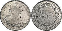 8 Escudo Spanisches Kolonialreich (1700 - 1808) Platin Karl III. von Spanien (1716 -1788)