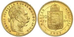8 Forint / 20 Franc Austria-Hungary (1867-1918) Gold Franz Joseph I (1830 - 1916)