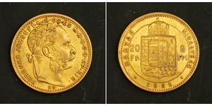 8 Forint / 20 Franc Autriche-Hongrie (1867-1918) Or Franz Joseph I (1830 - 1916)