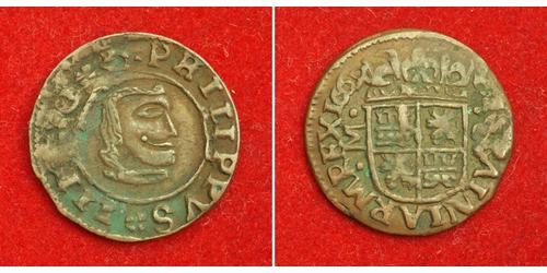 8 Maravedi Kingdom of Spain (1814 - 1873) Kupfer Philip IV. von Spanien (1605 -1665)