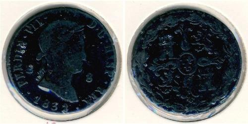 8 Maravedi Kingdom of Spain (1814 - 1873) Kupfer