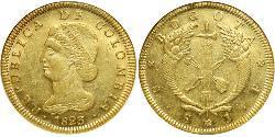 8 Peso 大哥倫比亞共和國 (1821 - 1831) 金