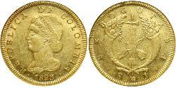 8 Peso Republic of Colombia (1819 - 1831) Gold