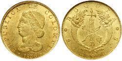 8 Peso Republic of New Granada (1831–1858) Gold