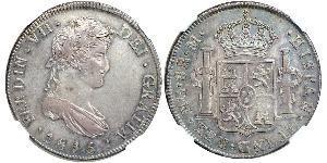 8 Real 危地马拉 / Spanish Colonies 銀 费尔南多七世 (1784 - 1833)