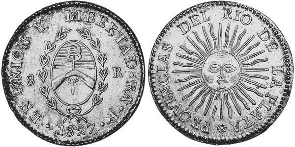 8 Real 拉普拉塔联合省 (1810 - 1831) 銀